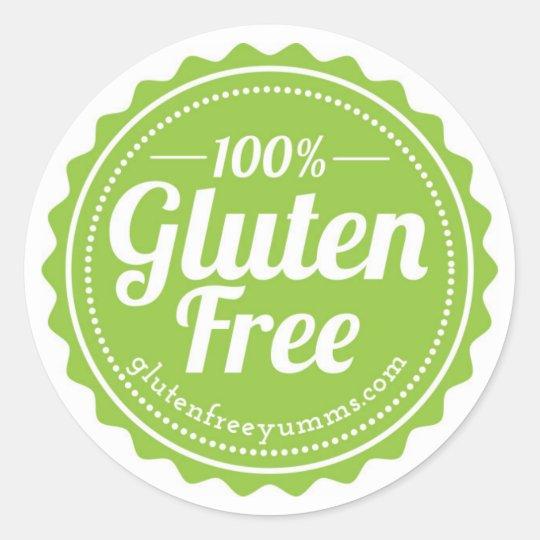 100% Gluten Free Stickers — Green