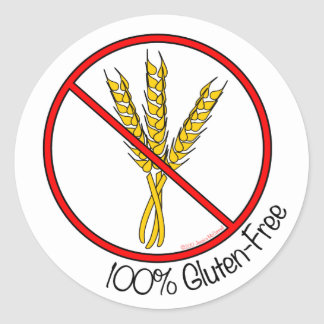"""100% Gluten-Free"" Stickers (Small)"