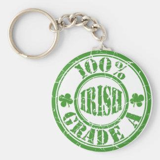 100% GRADE A IRISH Distressed Stamp Keychain