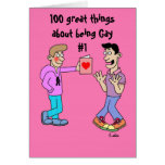 100 great things about being Gay #1 Card