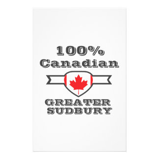 100% Greater Sudbury Customised Stationery
