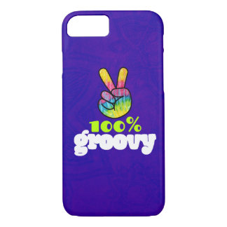 100% Groovy Rainbow Hand Peace Sign iPhone 8/7 Case