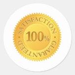 100% Guarantee Classic Round Sticker