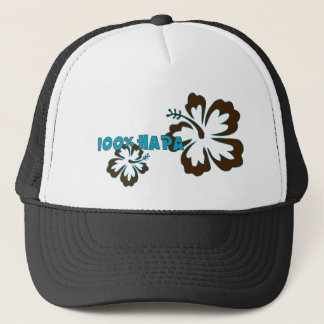 100% Hapa (with Hibiscus) Trucker Hat