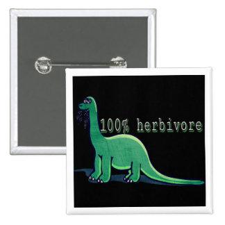 100% herbivore dinosaur 15 cm square badge