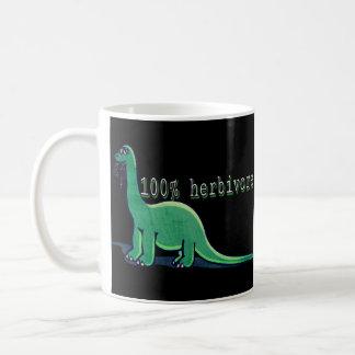 100% Herbivore vegan dinosaur mug