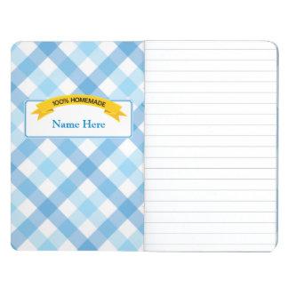 100% Homemade Food Label - Blue Journal