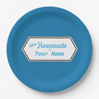 100% Homemade Food Label Paper Plate