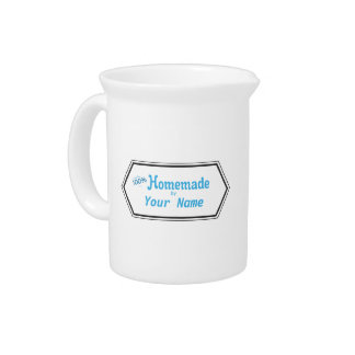 100% Homemade Food Label Pitcher