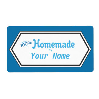 100% Homemade Food Label Shipping Label