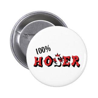 100%  Hoser 6 Cm Round Badge