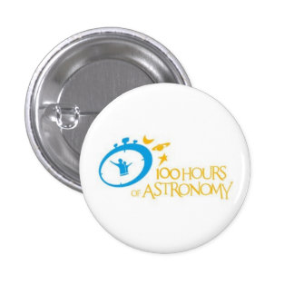 100 hours of astronomy 3 cm round badge