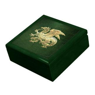 [100] Icelandic Dragon, Landvættir [Gold] Large Square Gift Box