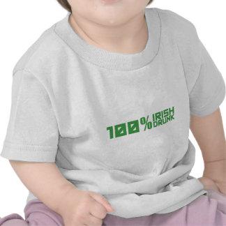 100% Irish 100% Drunk St Patrick's Day Shirt