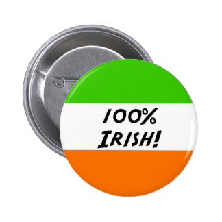 100% Irish 6 Cm Round Badge