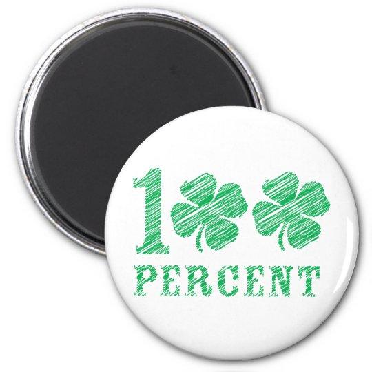 100% Irish 6 Cm Round Magnet