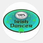 100% Irish Dancer Round Sticker