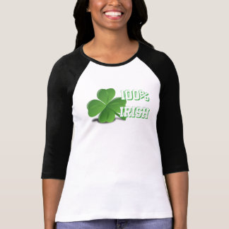 100% Irish St. Patrick's Day White T-Shirt Dress