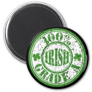 100% IRISH STAMP 6 CM ROUND MAGNET