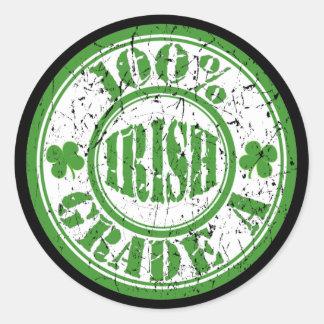 100% IRISH STAMP Stickers
