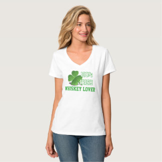 100% Irish Whiskey Lover St. Patrick's Day White T-Shirt