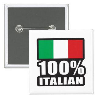 100% Italian 15 Cm Square Badge
