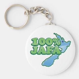 100% JAFA NEW ZEALAND kiwi design AUCKLAND Basic Round Button Key Ring