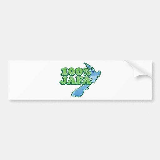 100% JAFA NEW ZEALAND kiwi design AUCKLAND Bumper Sticker