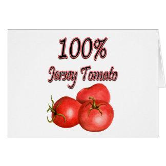 100% Jersey Tomato Card