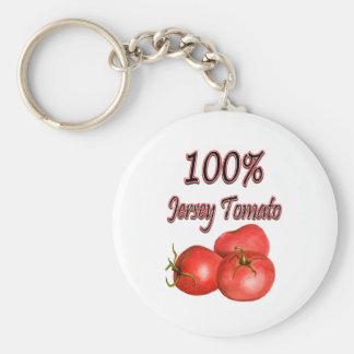 100% Jersey Tomato Key Ring