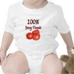 100% Jersey Tomato Rompers