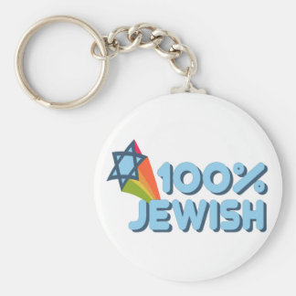 100 JEWISH + Magen David Key Chain