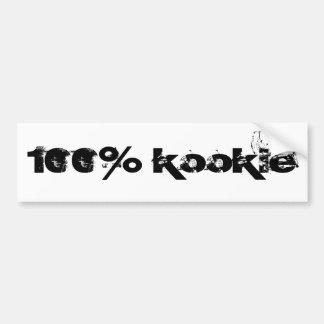 100% kookie bumper sticker