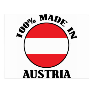 100% Made In Austria Post Cards