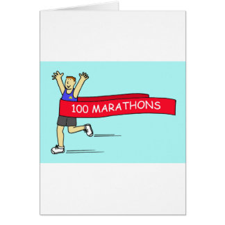 100 marathon congratulations for a male. card