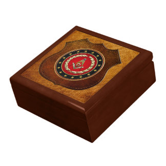 [100] Masonic Square and Compasses [3rd Degree] Large Square Gift Box