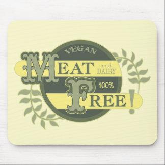 100% Meat Free Vegan Mouse Pad