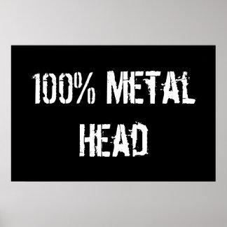 100% Metal Head Poster