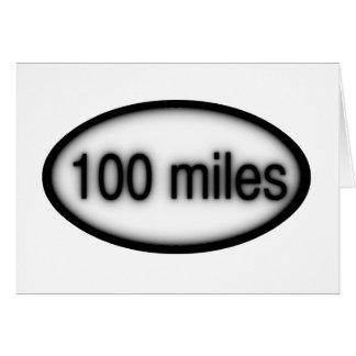 100 miles greeting card
