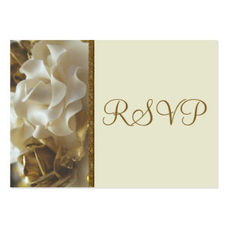 100 Mini RSVP Cards Gold Ivory Wedding Cake Rose Business Card Templates