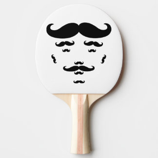 100% Mustache Ping Pong Paddle