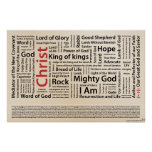 100 names of Jesus American Spelling.ai Poster