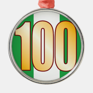 100 NIGERIA Gold Christmas Ornament