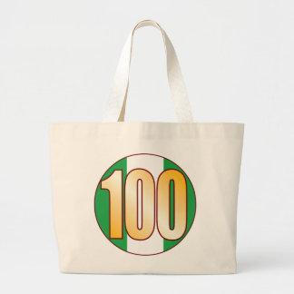 100 NIGERIA Gold Jumbo Tote Bag