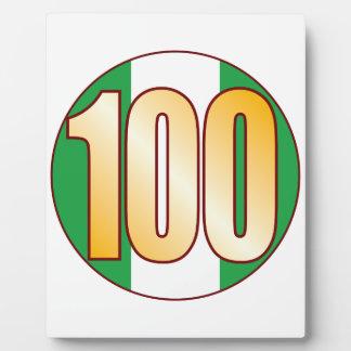 100 NIGERIA Gold Plaque