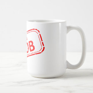 100% Noob Rubber-stamp red on white Coffee Mug