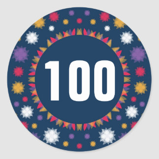 100 - Numbers Round Stickers