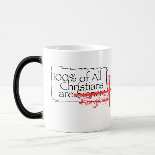 100% of Christians Magic Mug