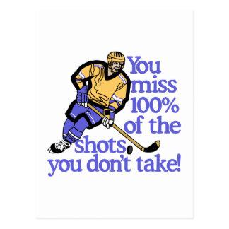 100% Of The Shots Postcard