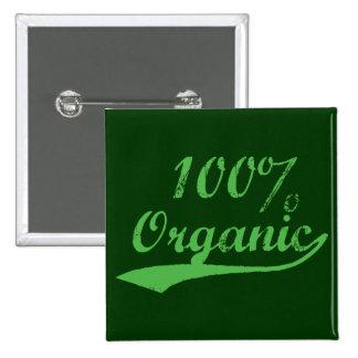 100% Organic 15 Cm Square Badge